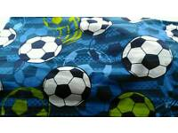 Football bedroom set, curtains, rug, lampshade, duvet cover