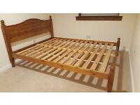 King Size Pine Bed in Great Condition