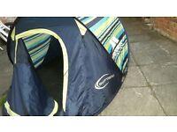 Trespass SWIFT 200 Striped 2 Man Pop Up Tent