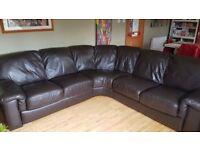 Beautiful Leather Corner Sofa