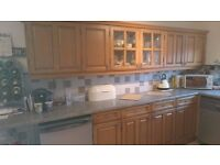 Large Solid wood kitchen and appliances