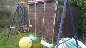 Trampoline and swing set free to collect needs new net