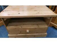 Pine 1 drawer TV unit