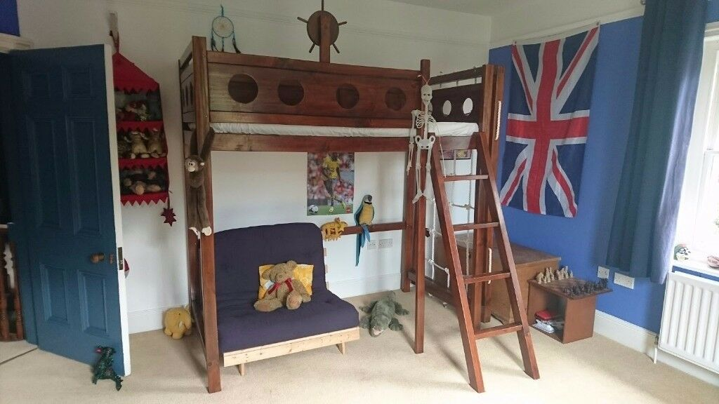 Children S Pirate Themed Bunk Bed Handmade And Totally Unique In