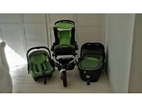 Jane Slalom Pro 3 in 1 Travel System with isofix carseat and base
