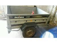Dextra 158 galvanised tipping trailer