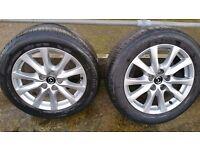 5x114.3 225/55/17 alloys with bridgestone tyres