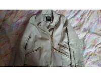 River island leather jacket like new age