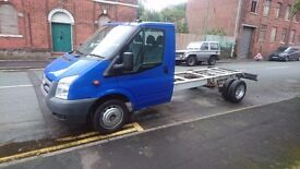 FORD TRANSIT 350 24 TDCI 100 LWB Dropside WHITE PAINTED BLUE, 2 doors, Manual, Diesel,