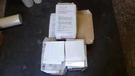 Johnson White wall tiles 150x150x5mm 5 boxes +15 extra approx