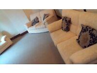 3 + 2 + 1 sofa set, w/ 4 cushions