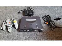 Nintendo 64 (N64) console, retro