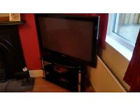 Samsung 42 inch HD TV with Glass stand, house clearance