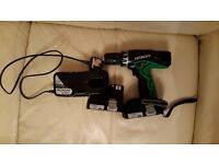 Hitachi drill 18v , 2 battery Liion,very good condition