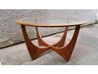 Retro 60s G-Plan Astro G teak and glass coffee table