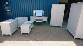 Stag bedroom suite wardrobes, dressing table, two bedsides & 2 chest of drawers