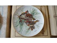 Ursula Band Birds of Europe W W F Set of 8 Collectors Plates