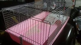 Large pink guinea pig/hampster cage