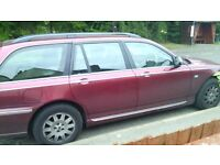Rover 75 Tourer. Top of the range,full leathers,4 new tyres, spare or repair