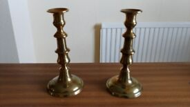 2 Brass Candle sticks