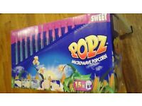 POPZ SWEET MICROWAVE POPCORN 15 PACKS PER BOX DATED 06/2017
