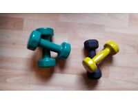 Dumbbells 2 Pair Hand Weights Gym Exercise Pilates 2kg, 3kg