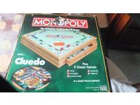 Wooden set of various board games
