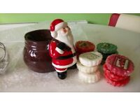 Father Christmas Yankee Candle Burner and Candles