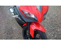 Yamaha yzfr125. .yzf r125...2009..12 months mot. .