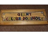 Wooden Giant Coloured Dominoes