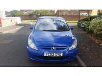 Blue Peugeot 307 Rapier 1.6 for sale.