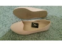 size 6 nude dolly shoes- new