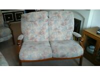 3 PIECE CINTIQUE SUITE INCLUDING RECLINER CHAIR, 2 SEATER COUCH AND CHAIR