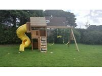 Climbing Frame with swings and slides