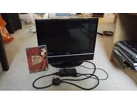 Small TV with built-in DVD player (HD compatible)
