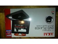 portable dvd player bnib with swivel screen
