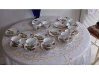 dorchester 21 piece bone china tea set.