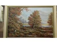 Trees in Autumn oil painting