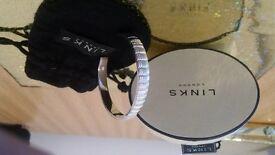 Links of London Men's/Ladies silver bangle brand new in original box