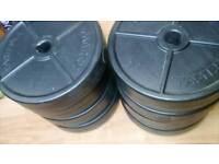 5kg vinyl weights x 8