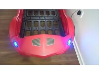 Childs car bed with lights