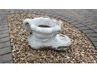 Concrete garden Boot