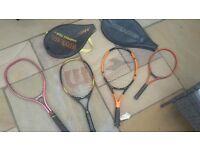 Tennis rackets x 4
