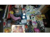 Joblot, Christmas, blinds, wrapping paper, rug gift sets, phone vr sets
