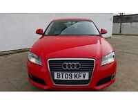 2009 AUDI A3 1.9 TDI SPORT NEW FACELIFT MODEL **£30 ANNUAL TAX - 74 MPG** (PART EX WELCOME)