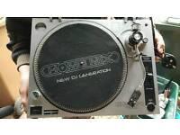 mixing decks turntables mixer dj equipment