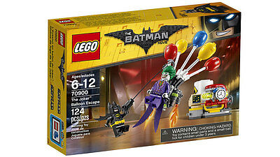 NEW LEGO BATMAN MOVIE SET 70900 THE JOKER BALLOON ESCAPE MINIFIGURE BOX INSTRUCT