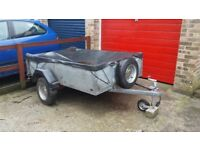Galvanised 6×4 car trailer