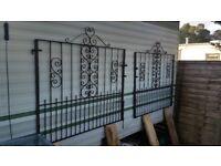 Cast iron double gates