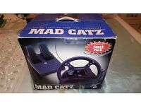 N64 Steering Wheel with pedals, Nintendo 64, Mad Catz